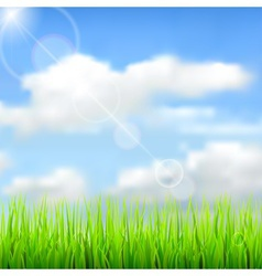 Nature spring background vector