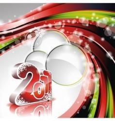 Happy new year 2011 design vector