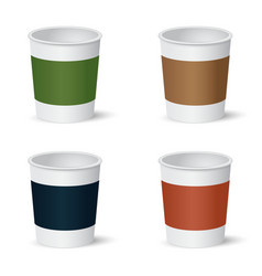Set of paper coffee cups vector