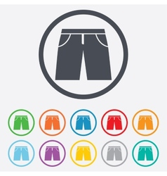 Mens bermuda shorts sign icon clothing symbol vector