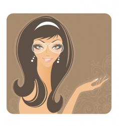 Glamour women vector