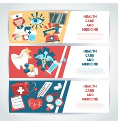 Medical horizontal banners vector