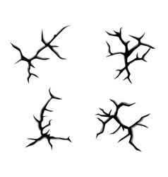 Cracks and clefts vector