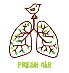 Lungs and nature - for the fresh air vector