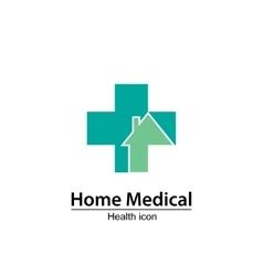 Home medical symbol health icon nursing home vector