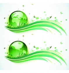 Eco background vector