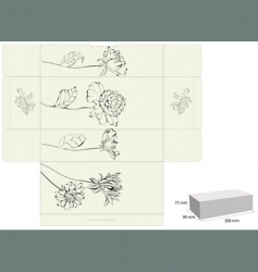 Decorative template for box design vector