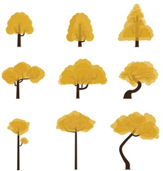 Tree collection 6 vector