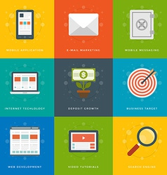 Flat design icons symbols for website vector