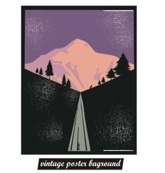 Vintage poster background vector