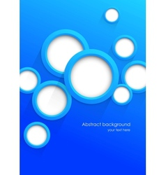 Background with blue circles vector