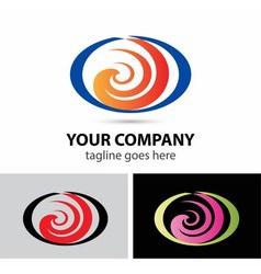 Spiral logo shape abstract icon vector