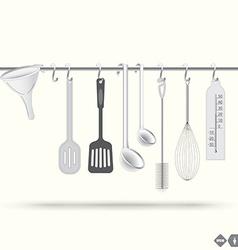 Kitchen wooden vector