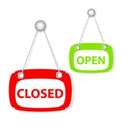 Closed open signboard vector