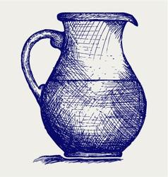 Milk pitcher vector