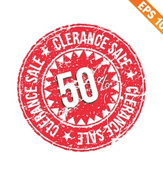 Rubber stamp sale tag - - eps10 vector
