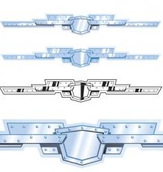 Metal border vector