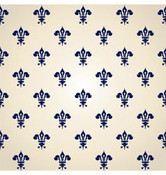 Pattern of heraldic lilies vector