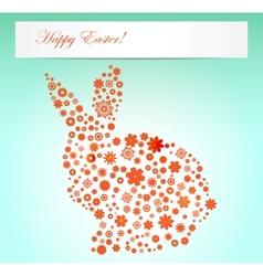 Easter  spring flowers rabbit shape vector