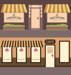 Cafe building set of elements for construction of vector