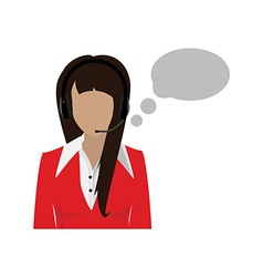 Female call center avatar vector