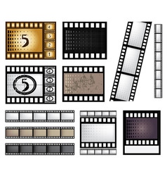 Film strip set vector