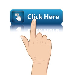Hand push button vector
