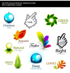 Set of various detailed design elements vector