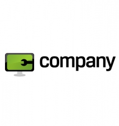 Computer repair service logo vector
