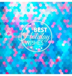 Best holiday abstract blue background vector