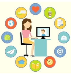 Business communication concept vector