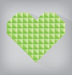 Green earth retro heart triangle abstract love vector