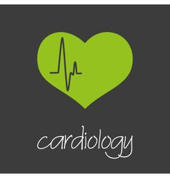 Cardiology heart design banner and background vector