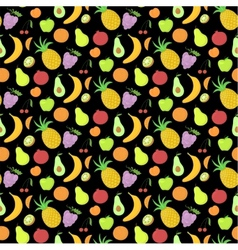 Fruit seamless pattern background with great vector