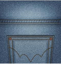 Jeans pocket top vector