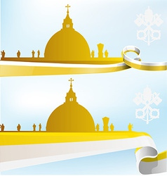 Vatican background vector