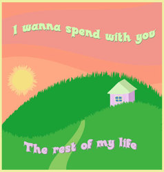 Will you marry me postcard vector