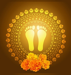 God foot print vector