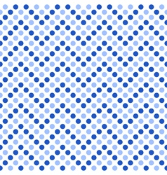 Seamless pattern zigzag with blue polka dots vector