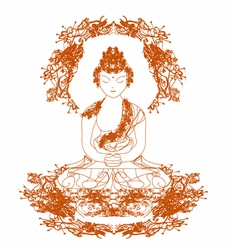 Chinese traditional artistic buddhism pa vector