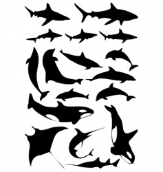 Underwater animals vector