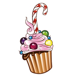 Muffin cupcake sweets vector