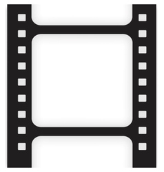 Old filmstrip movie ending frame vector