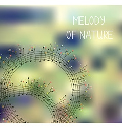 Melody of nature - romantic background with notes vector