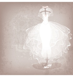 Bride dress on grungy background vector