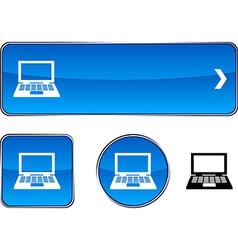 Notebook button set vector