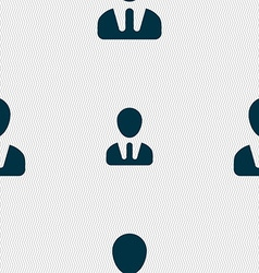 Male silhouette icon sign seamless pattern with vector