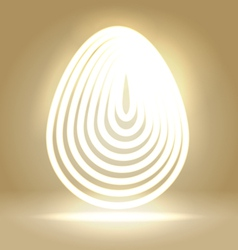 Shining wired egg background vector