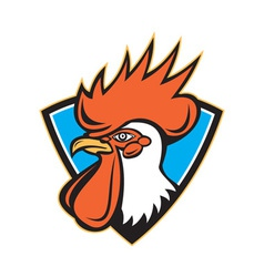 Rooster cockerel head crest vector
