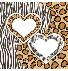 Zebra and leopard vector